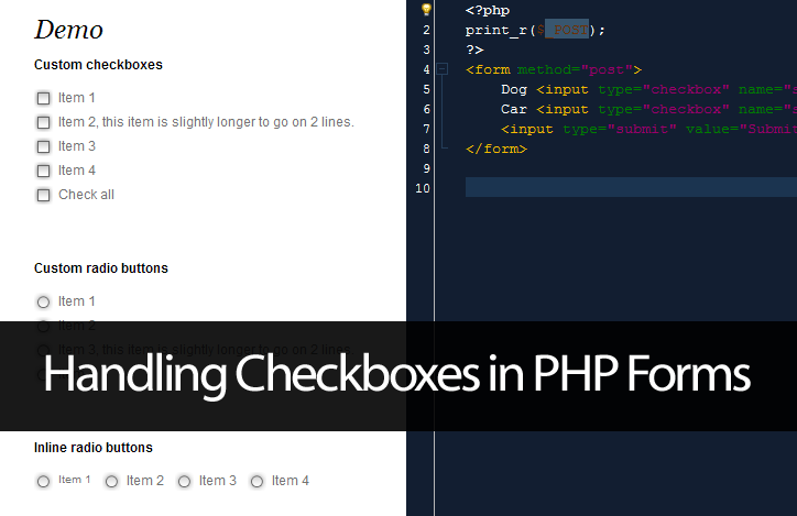 Handling Checkboxes in PHP Forms