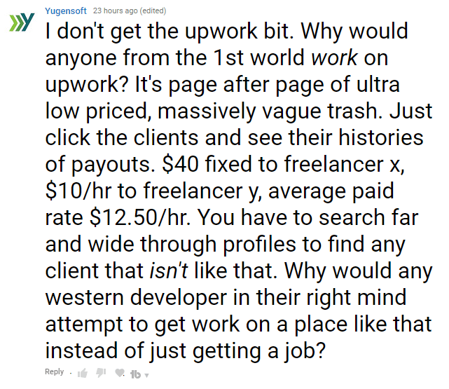 Upwork clients don't pay jack 1