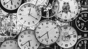 Picture of multiple clocks